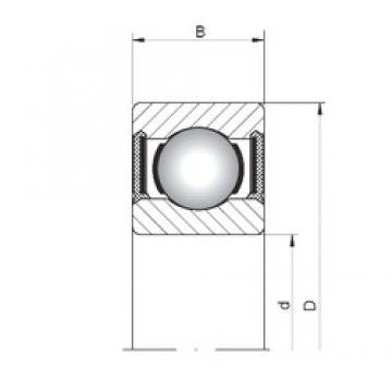 2 mm x 6 mm x 3 mm  ISO 619/2-2RS deep groove ball bearings