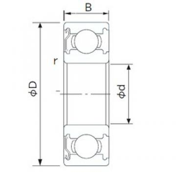 95 mm x 130 mm x 18 mm  NACHI 6919Z deep groove ball bearings
