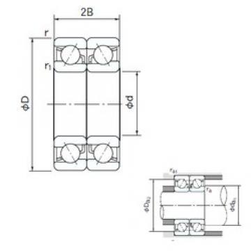 160 mm x 340 mm x 68 mm  NACHI 7332BDB angular contact ball bearings