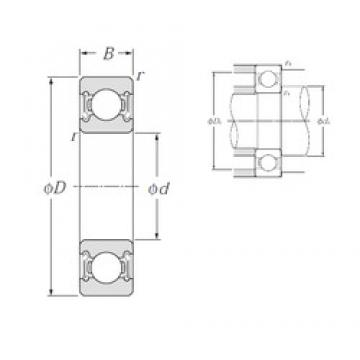 20 mm x 27 mm x 4 mm  NTN 6704LLF deep groove ball bearings