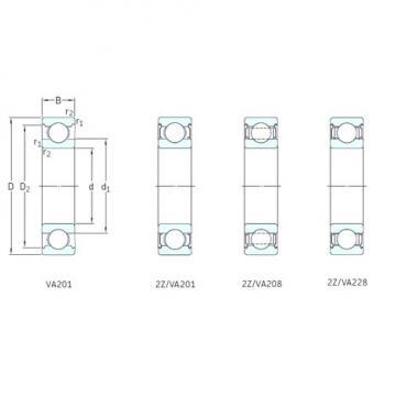 75 mm x 160 mm x 37 mm  SKF 6315/VA201 deep groove ball bearings