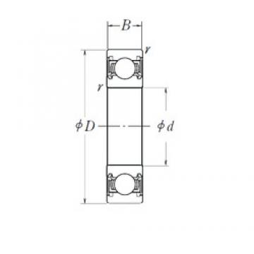 22 mm x 44 mm x 12 mm  NSK 60/22DDU deep groove ball bearings