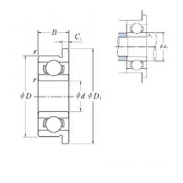 3 mm x 13 mm x 5 mm  ISO F633 deep groove ball bearings