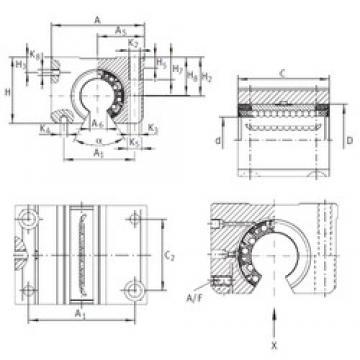 INA KGNOS 20 C-PP-AS linear bearings