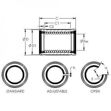 AST LBB 6 UU linear bearings