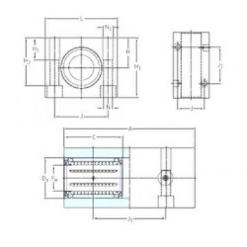 SKF LTCD 25-2LS linear bearings