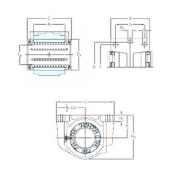 SKF LUCD 40 linear bearings