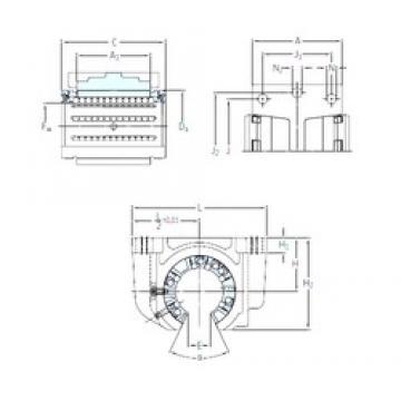 SKF LUCF 25-2LS linear bearings