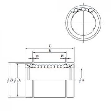 16 mm x 28 mm x 26.5 mm  KOYO SESDM16 linear bearings