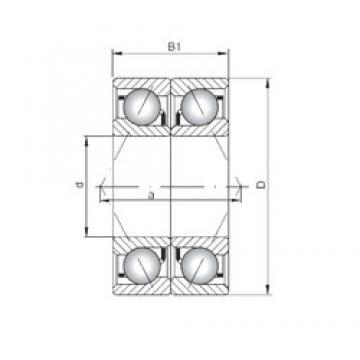 ISO 7312 BDB angular contact ball bearings