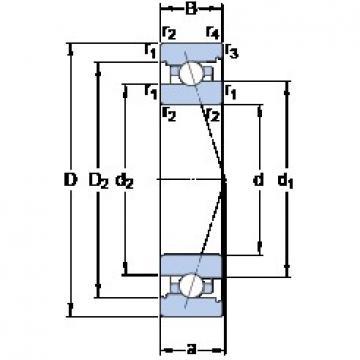 40 mm x 62 mm x 12 mm  SKF 71908 CB/HCP4A angular contact ball bearings