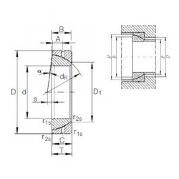 60 mm x 95 mm x 22 mm  INA GE 60 SX plain bearings