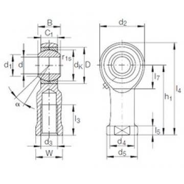22 mm x 42 mm x 28 mm  INA GIKFR 22 PB plain bearings
