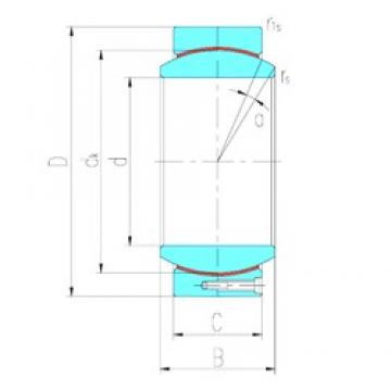 530 mm x 710 mm x 243 mm  LS GEC530HT plain bearings