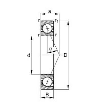 10 mm x 22 mm x 6 mm  FAG B71900-E-T-P4S angular contact ball bearings