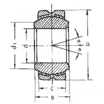 10 mm x 26 mm x 14 mm  FBJ GEBK10S plain bearings