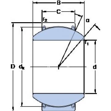 35 mm x 62 mm x 35 mm  SKF GEH 35 TXE-2LS plain bearings