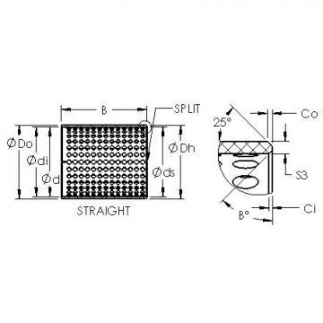AST ASTT90 4030 plain bearings