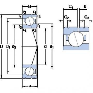 100 mm x 140 mm x 20 mm  SKF 71920 CE/P4AL angular contact ball bearings