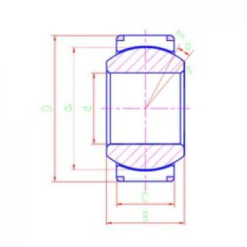 280 mm x 400 mm x 200 mm  LS GEH280XT plain bearings