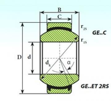 30 mm x 47 mm x 22 mm  ISB GE 30 ET 2RS plain bearings