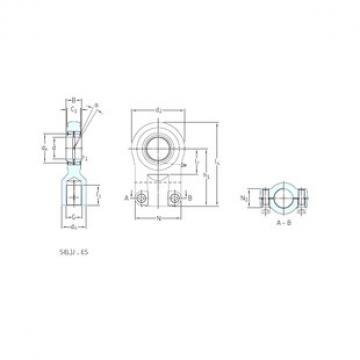 SKF SIR40ES plain bearings