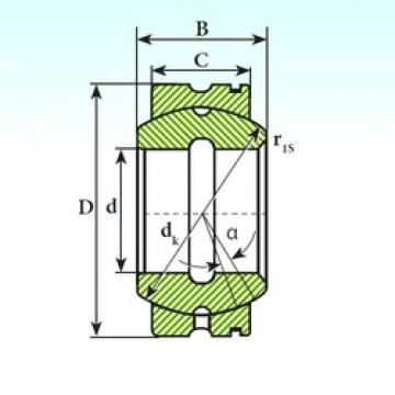 30 mm x 50 mm x 27 mm  ISB GE 30 XS K plain bearings