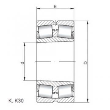 240 mm x 500 mm x 155 mm  ISO 22348 KW33 spherical roller bearings