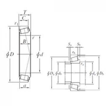 206,375 mm x 282,575 mm x 46,038 mm  KOYO 67985/67920 tapered roller bearings