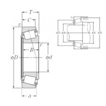75 mm x 145 mm x 51 mm  NTN 4T-JH415647/JH415610 tapered roller bearings