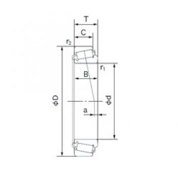 100 mm x 180 mm x 34 mm  NACHI E30220J tapered roller bearings