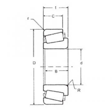 40 mm x 85 mm x 21,692 mm  FBJ 350A/354A tapered roller bearings
