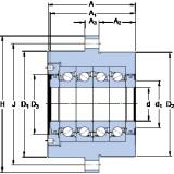 SKF FBSA 210/QFC thrust ball bearings